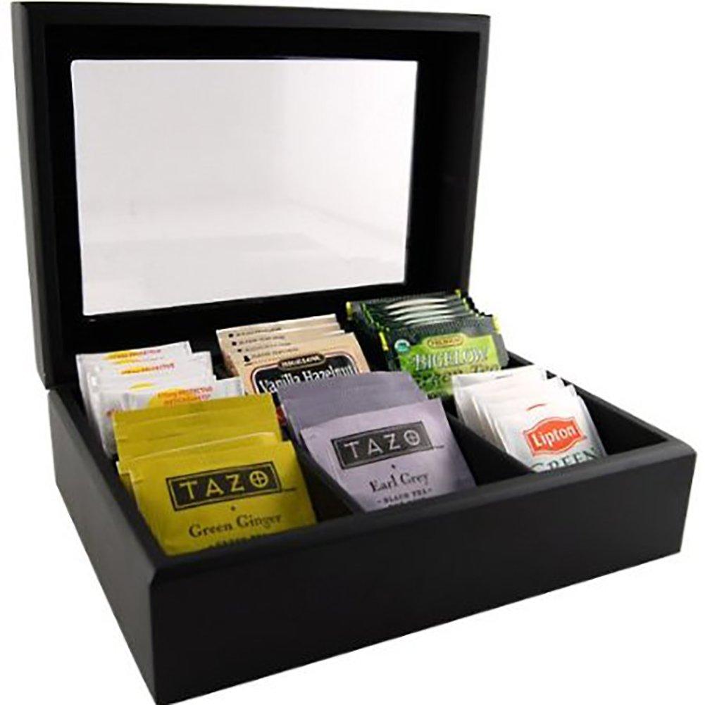 sc 1 st  Amazon.com & Amazon.com: Wooden Tea Bag Chest: Tea Storage Chests: Kitchen u0026 Dining