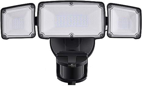 ETL Flood IP65 Waterproof 3 Head LED Security Lights Outdoor 30W 3500LM 5000k