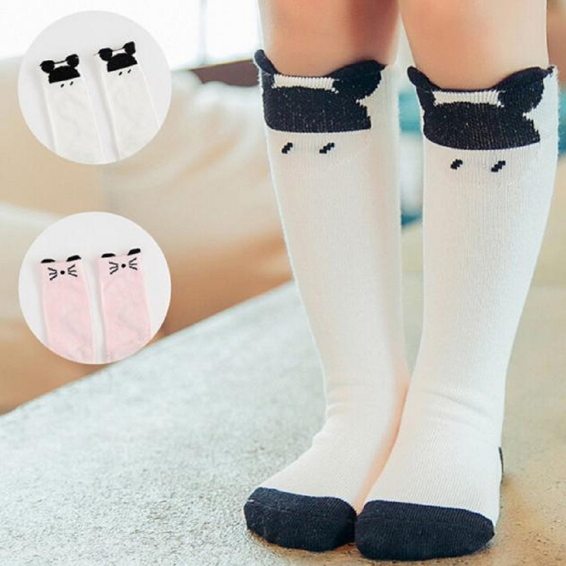 Children Socks,Leegor Cartoon Floral Medium and High Tube Pricess Socks