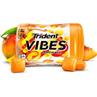 6-Bottles Trident Vibes Tropical Beat Sugar Free Chewing Gum (240 Pieces Total)