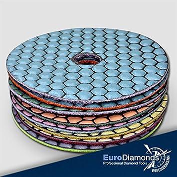 Diamant Schleifpad Set (9 teilig), Schleifscheibe zum schleifen und ...