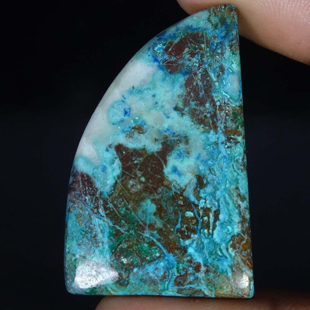 Radheygovind gems 65.00Cts.100% Natural Blue Azurite Fancy Cab Fine Quality Loose Gemstones
