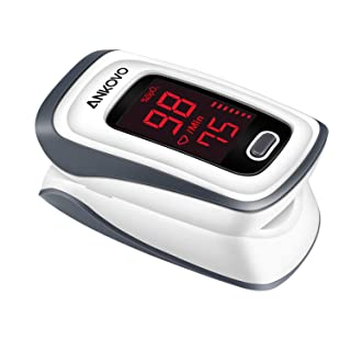 ANKOVO Pulse Oximeter Fingertip Blood Oxygen Saturation Monitor Pulse Rate and SpO2 Level Portable with Lanyard and Batteries