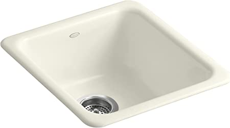 Kohler K 6584 96 Iron Tones Self Rimming Undercounter Kitchen Sink Biscuit