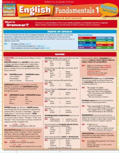 English Fundamentals 1 (Quick Study)