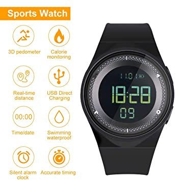 RCruning-EU Pulsera Actividad Impermeable IP68 Fitness Smartwatch ...