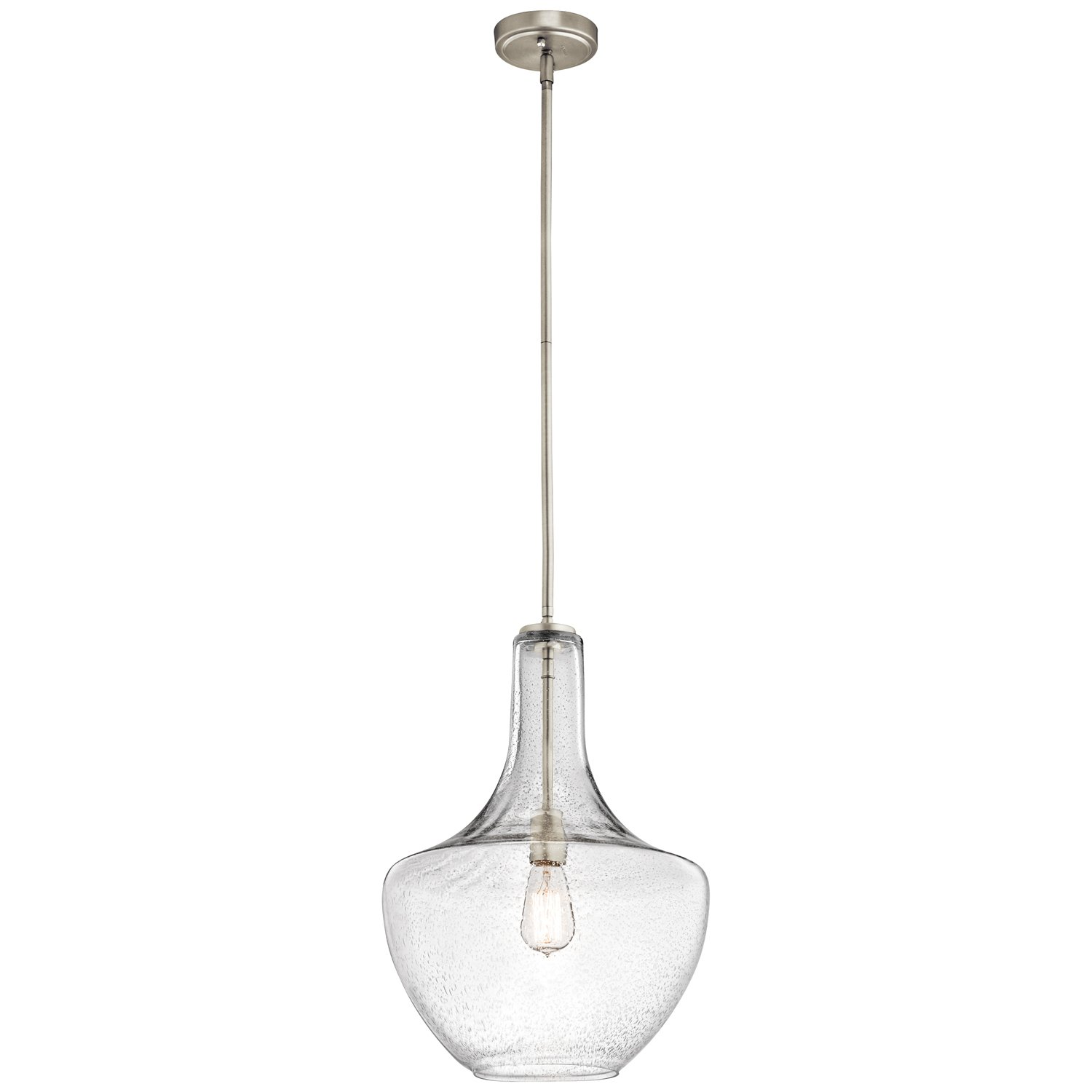 Kichler 42046NICS Everly 1-Light 13.75'' Pendant in Brushed Nickel by Kichler Lighting