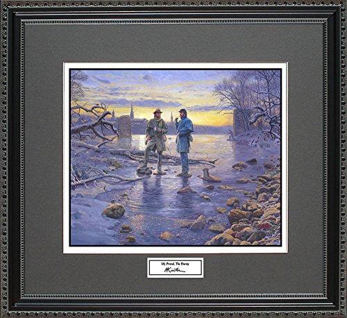 Mort Kunstler MY FRIEND, THE ENEMY Framed Wall Art Civil War Print, 18x16