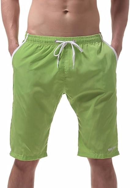 Geilisungren Tallas Grandes Bañadores de Natación Boxer para Hombre, Hombre Bañador Traje de Baño Pantalones Cortos baño de Playa, Color sólido con cordón Ajustable Dentro y Bolsillos: Amazon.es: Ropa y accesorios
