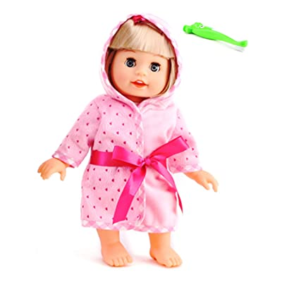 "POCO DIVO Brush Teeth Doll 12"" Interactive Pajamas Girl Fashion Princess Singing Talking Cuddly Baby with Shaking Head: Toys & Games"