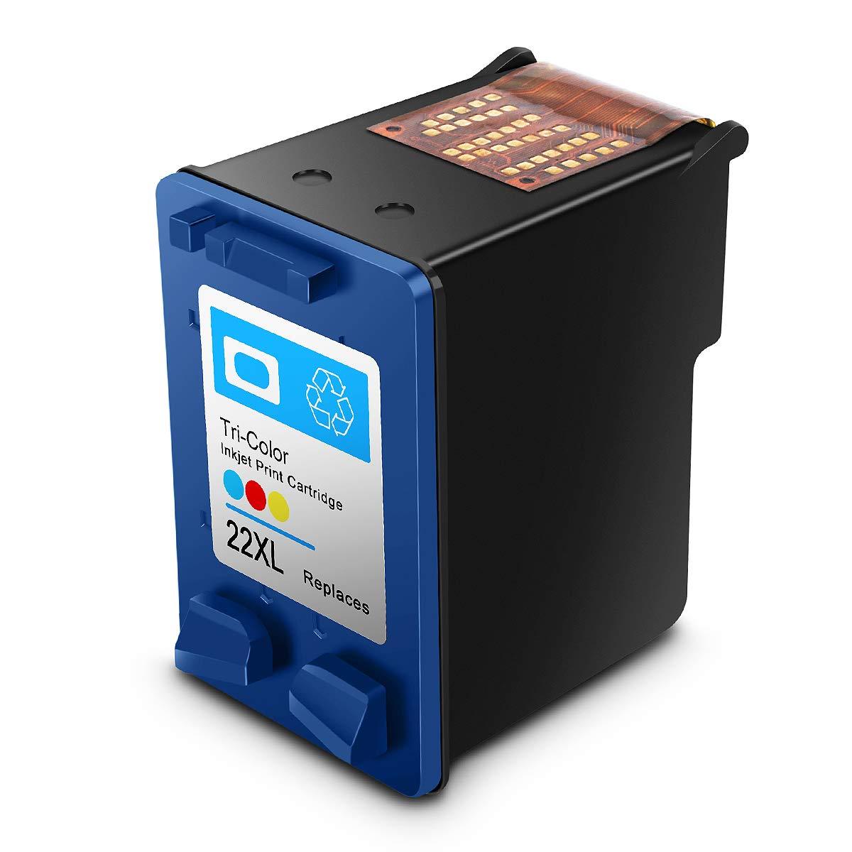 Reconstruido HP 21 22 XL HP21/22xl Cartuchos de Tinta de Alto Rendimiento Compatible con HP DeskJet, HP OfficeJet y HP Envy (1 Negro, 1 Tricolor)
