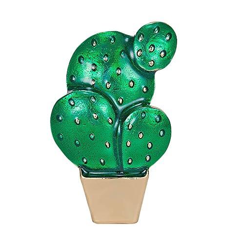 TENDICOCO - Broche de Cactus en jarrón, Pintura al óleo, Planta ...