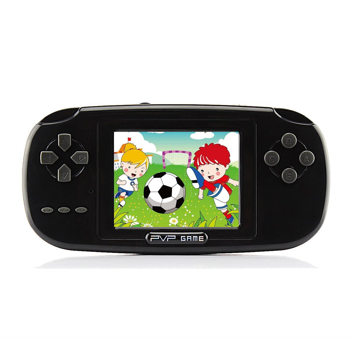Handheld Game Console , Game Console 2.8'' 168 Games LCD PVP Game Player Classic Game Console 1 USB Charge Presents for Children-Black