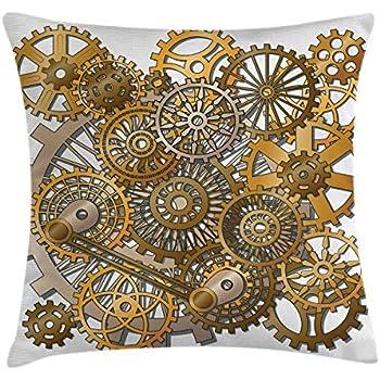 Amazon Com Ambesonne Clock Throw Pillow Cushion Cover