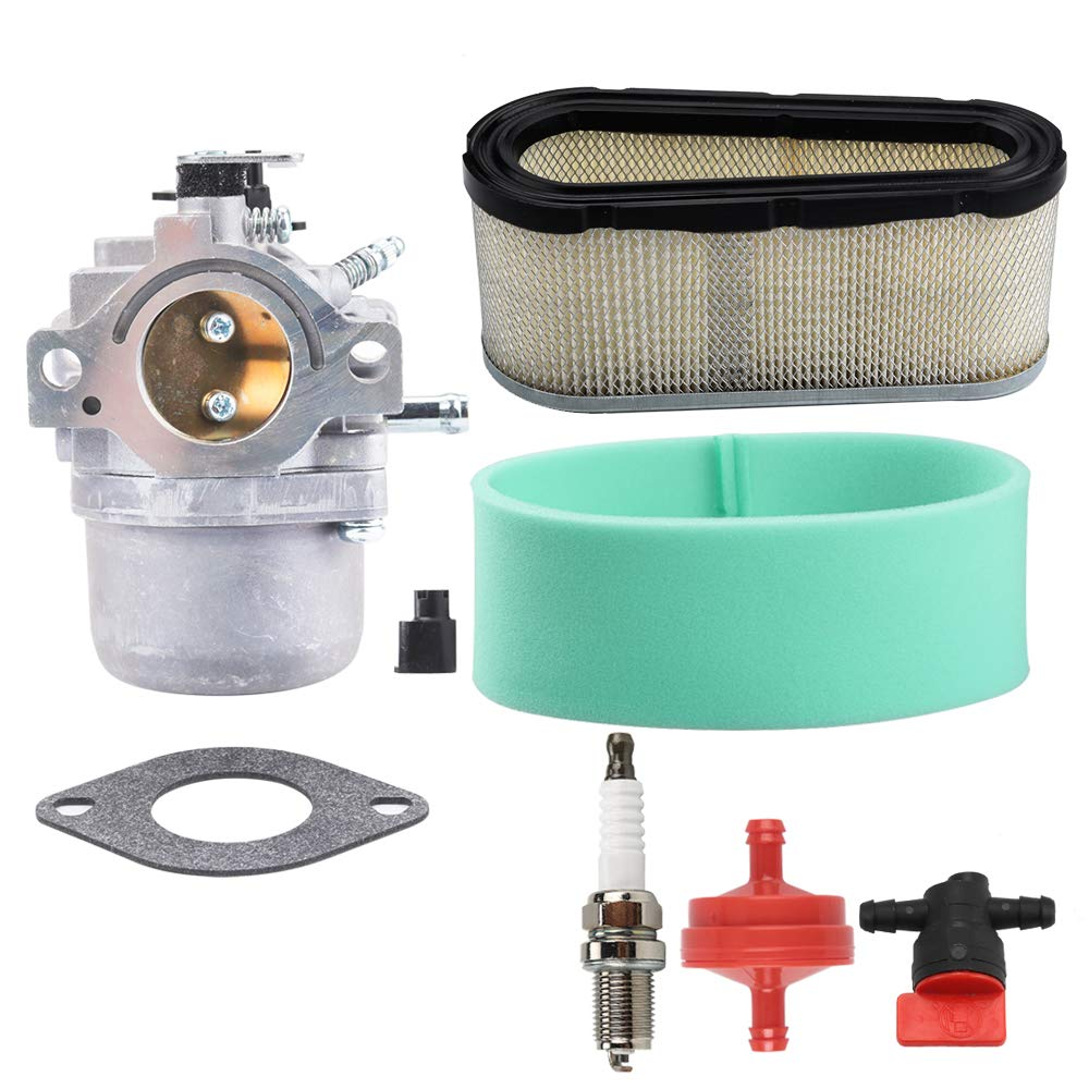 799728 Carburetor + 496894S Air Filter for Briggs Stratton 498027 498231 499161 494502 494392 495706 498134 Murray Craftsman Lawn Mower Tune Up Kit Shut Off Valve