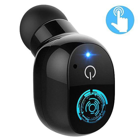 Mpow Mini Auricular Bluetooth 4.2, Inalámbraco con Control táctil, Auricular Invisible Manos Libres Inteligencia