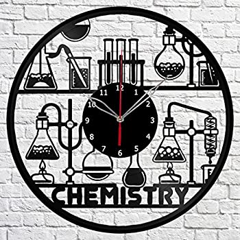 Amazon the geeky days chemical symbols wall clock chemical chemistry science vinyl record wall clock fan art handmade decor original gift unique decorative vinyl clock 12 30 cm urtaz Images