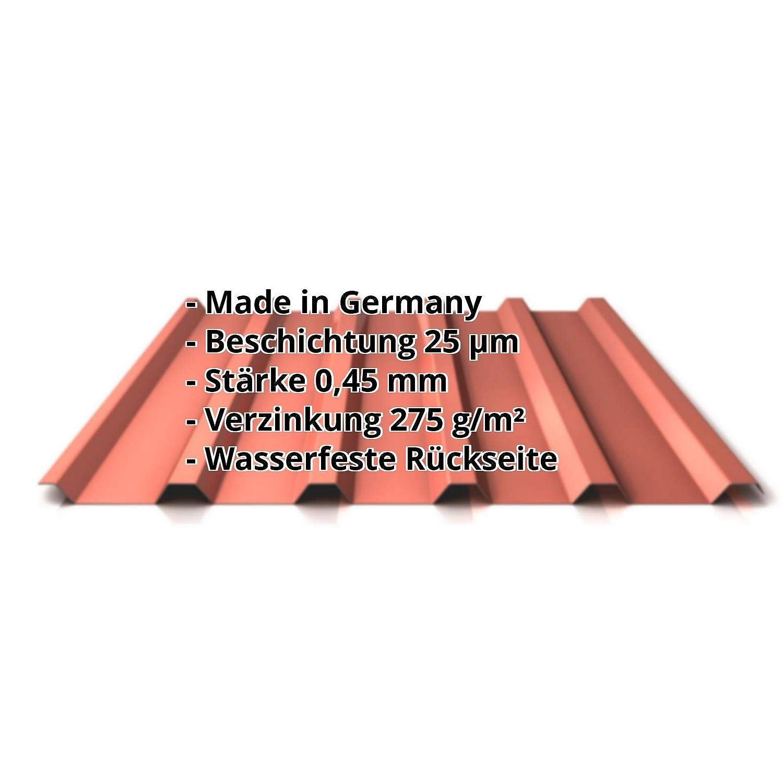 Profil PS35//1035TR Trapezblech Material Stahl Farbe Anthrazitgrau St/ärke 0,40 mm Profilblech Beschichtung 25 /µm Dachblech