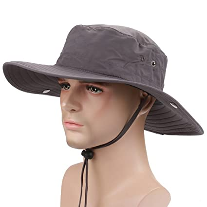 2a8f834be Amazon.com : Ezyoutdoor Outdoor Collapsible Quick-dry Fishing Hat ...