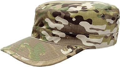 Unisex Mens Camo Military Army Flat Top Cadet Hat Sports Baseball Cap Adjustable