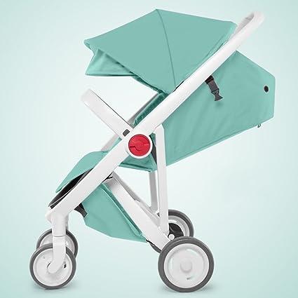 YEC Cochecito de bebé alto paisaje puede sentarse y reclinable plegable paraguas ligero/para bebés