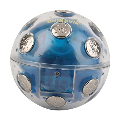 Ballylelly ABS & Metal Electric Shock Shocking Glowing Ball Game X'Mas Party Entertainment Toy Gift Blue Auto Off Function for Safety: Juguetes y juegos