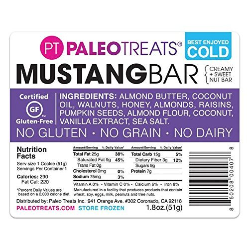 Paleo Treats Mustang Bar: Paleo cookie, Gluten-Free, Grain-Free, Dairy-Free, Soy-Free, Egg-Free, Keto, Real Food Dessert (Box of 12) by Paleo Treats (Image #4)
