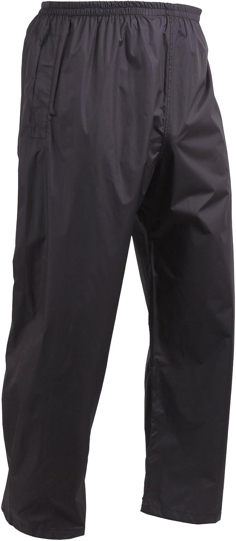 Black Packable Rain Suit Rip-Stop Rothco 30701