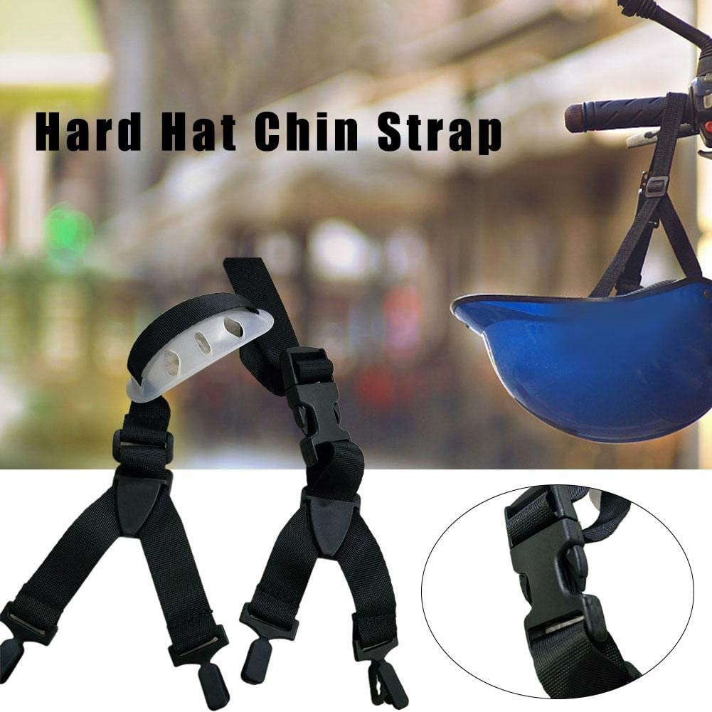 Adjustment Of Length yestter Hard Hat Chin Strap Black Universal Hard Hat Chin Strap With Black Elastic Strap And Chin Cup Suitable For Most Hat