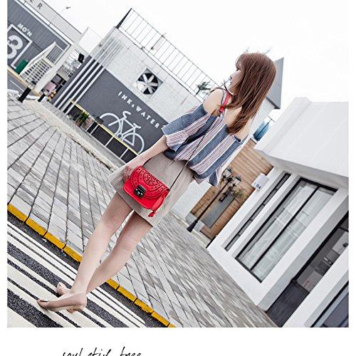 Spalla Yxlong Pelle La Borse Coreano Beige Le Donne In Rete Giovani Nuove Quadrato Per 6xwgaZq0w