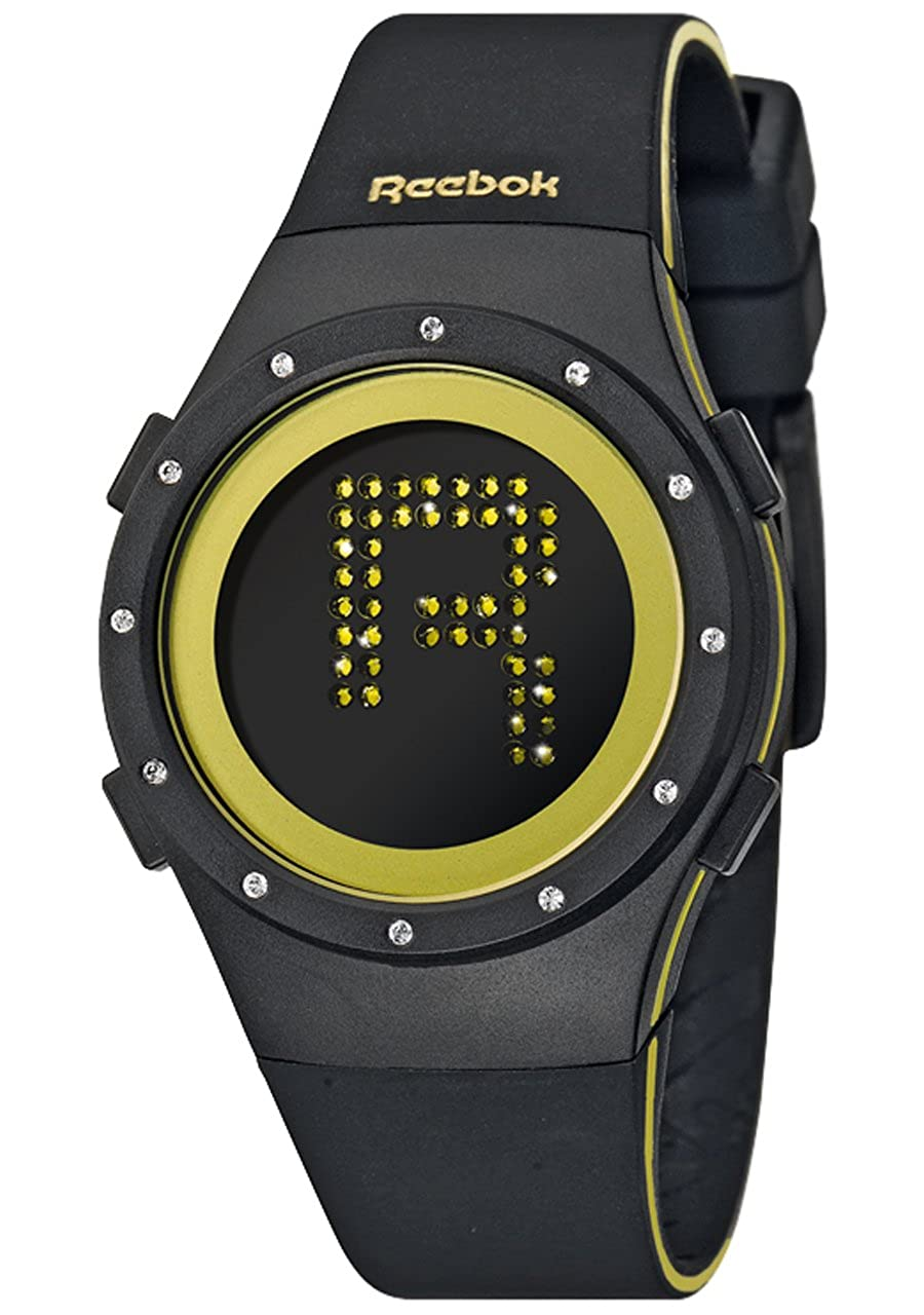 reebok rc-idr-l9-pbib-b2 montre femme quartz analogique bracelet silicone noir