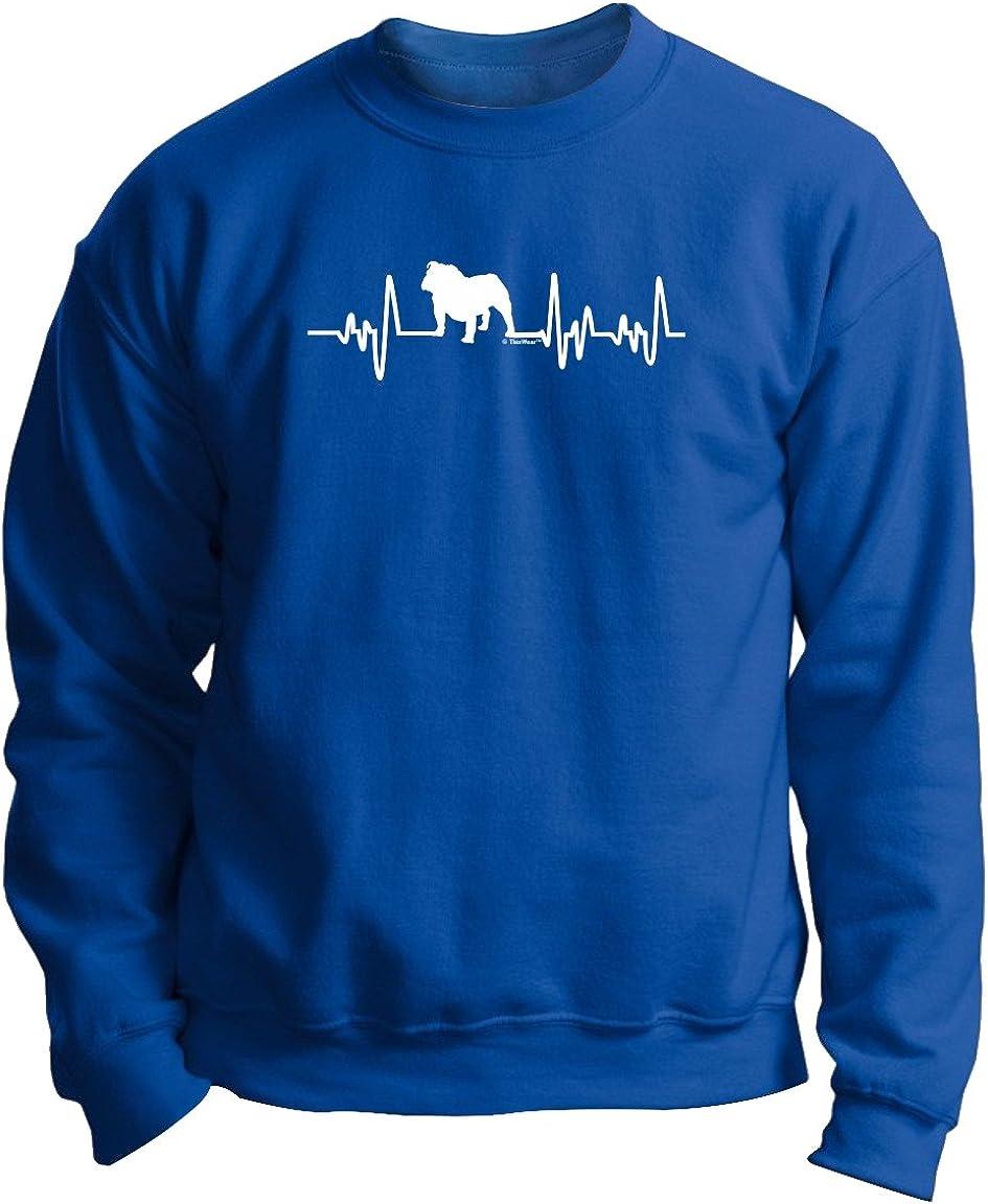 Heartbeat Bulldog Dog Puppy Owner Hoodie