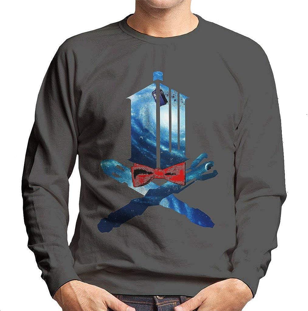 Doctor Who Tardis and Cross Bones Mens Sweatshirt