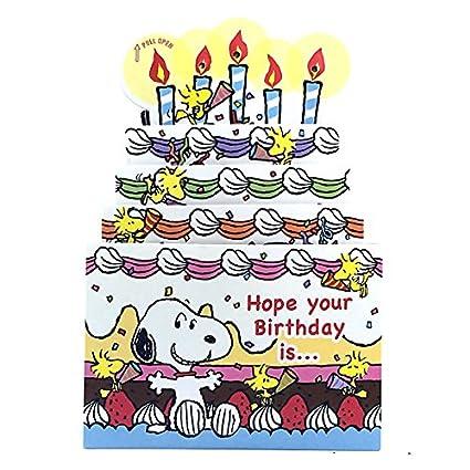 Luces con tarjeta de cumpleaños música Snoopy Slide Funda ...