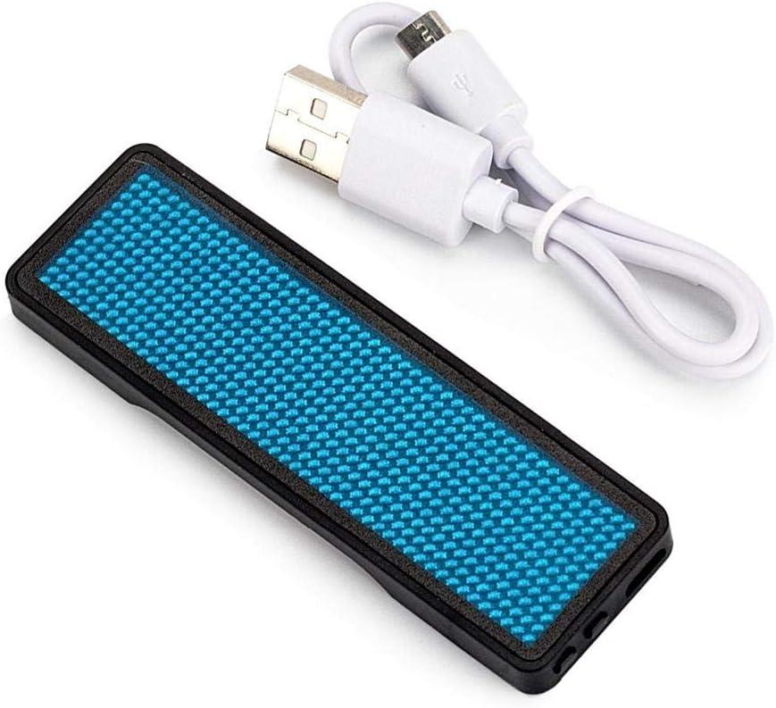 Drahtlose Mobile App Bluetooth Digital Programmierbar Dadahuam LED Abzeichen Mehrsprachiges USB-Laden Leuchtende Board Buchstaben Scrolling Board marvelously