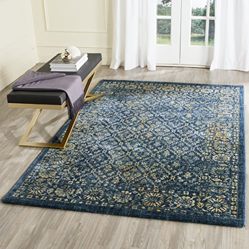 Safavieh Evoke Collection EVK511A Vintage Navy and Gold Area Rug (5'1