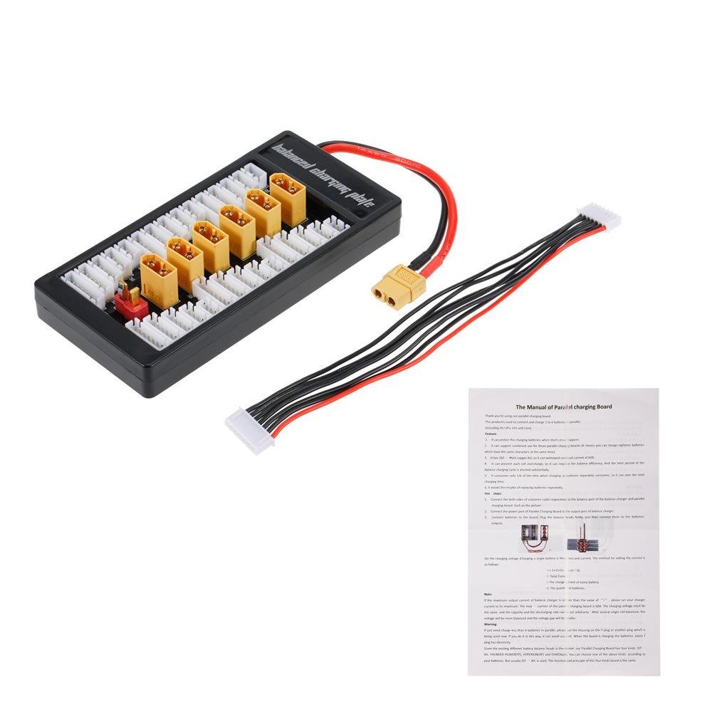 Goolsky Bater/ía LiPo 2-6S Cargador Paralelo Adaptador XT60 Placa de Equilibrio para Imax B6 B6AC