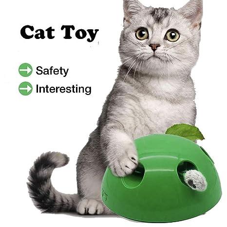 YUYIHAN Juguete Interactivo para Gatos, Dispositivo de rascado de ...