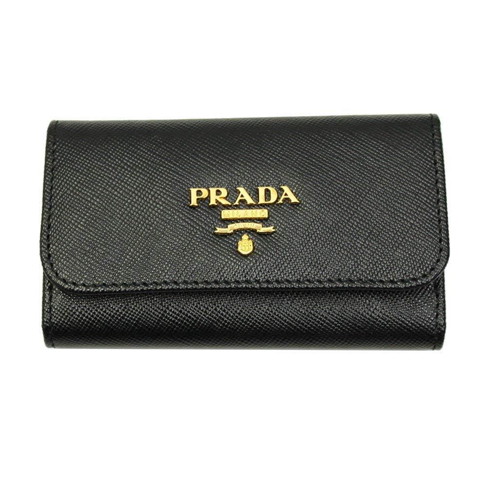 Prada Black Saffiano Leather Key Case 1PG222 Nero