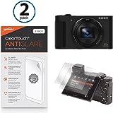 Sony CyberShot DSC-HX90V Screen Protector, BoxWave [ClearTouch Anti-Glare (2-Pack)] Anti-Fingerprint Matte Film Skin for Sony A65 | CyberShot DSC-HX90V