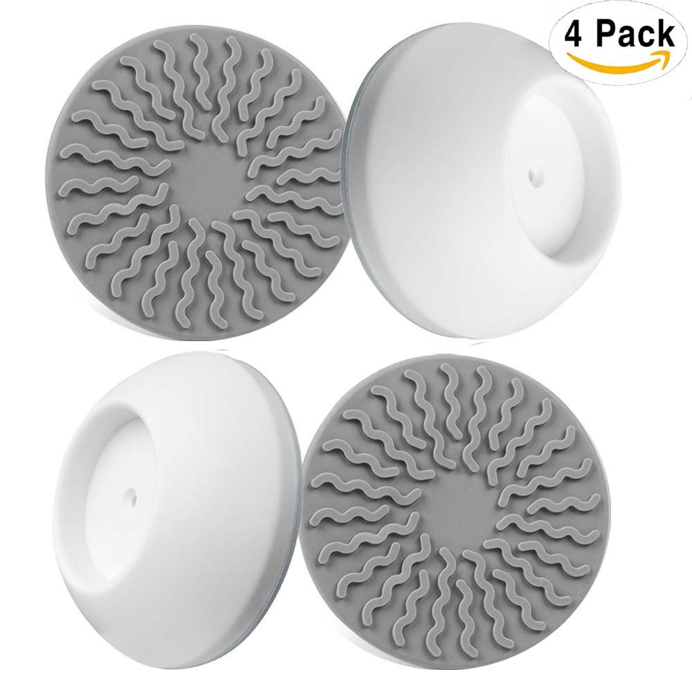 4 Pack Baby Gates Wall Cups, Safety Wall Bumpers Guard Fit for Bottom of Gates, Doorway, Stairs, Baseboard, work with Dog Pet Child Kid Pressure Mounted Gates