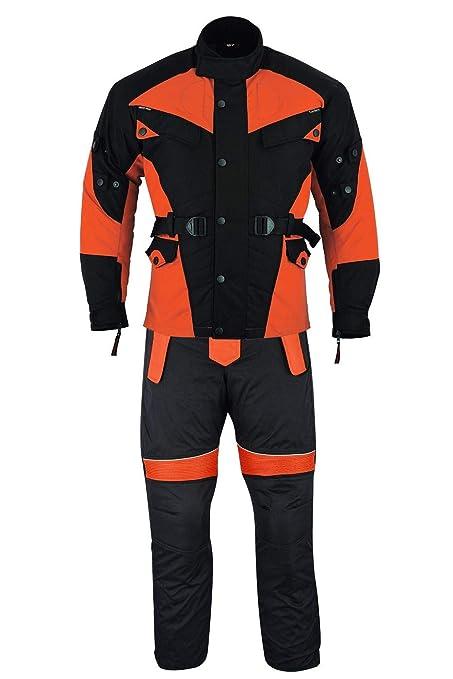 German Wear - Traje de motorista de 2 piezas de tejido Cordura + pantalón para moto