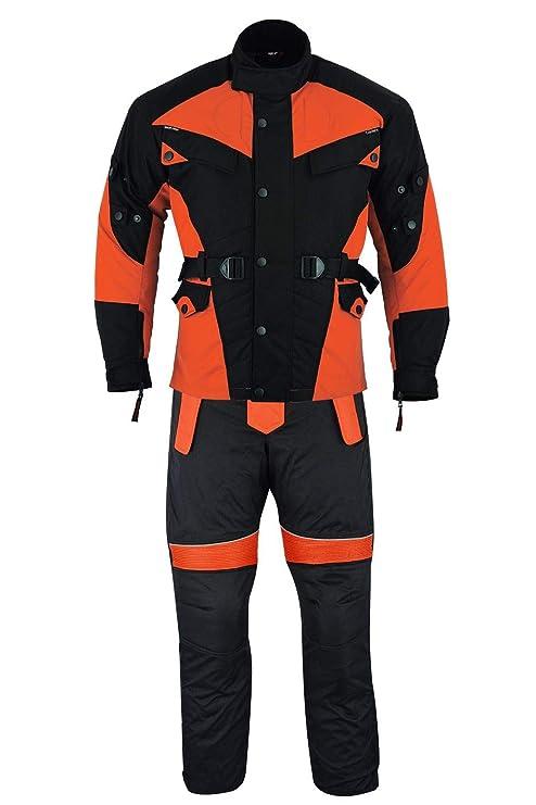 089b4ae1301 German Wear - Traje de motorista de 2 piezas de tejido Cordura + pantalón  para moto
