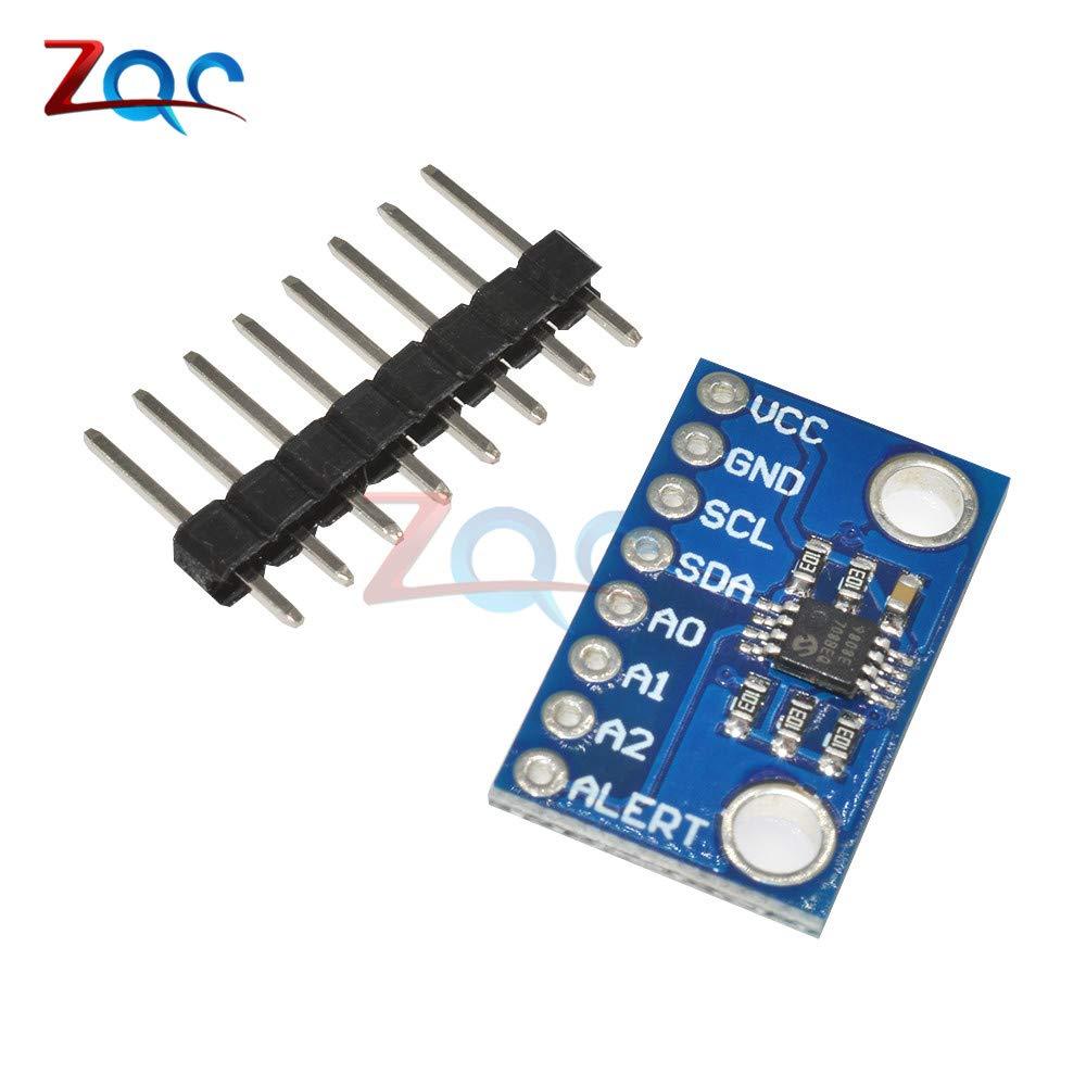 HUABAN High Accuracy Temperature Sensor MCP9808 I2C Breakout Board Module 2.7V-5V Logic Voltage