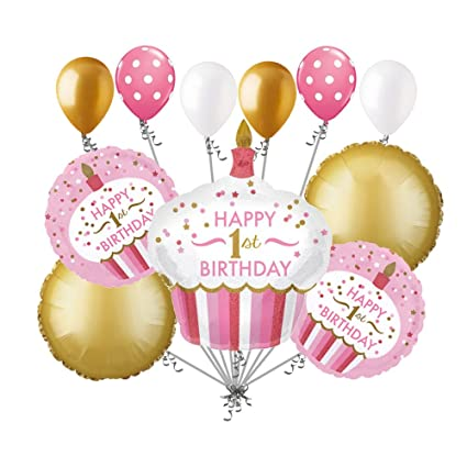 Image Unavailable Not Available For Color 11 Pc 1st Cupcake Happy Birthday Balloon