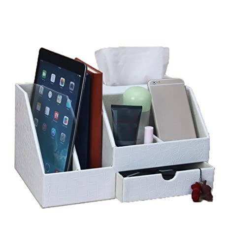 Amazon unionbasic multifunctional pu leather office desk unionbasic multifunctional pu leather office desk organizer ipad notebook file box holder business cardpen reheart Images