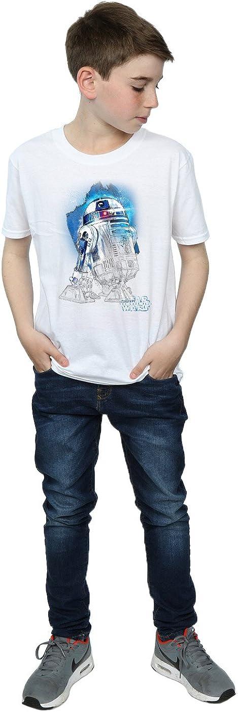 Star Wars Boys The Last Jedi R2-D2 Brushed T-Shirt