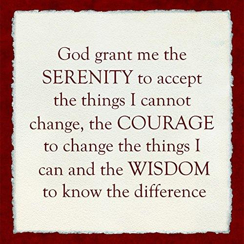 Serenity Prayer Print (Serenity Prayer - red frame Art Print, 8 x 8 inches)