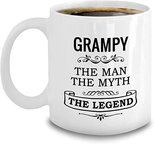 World/'s Best Grandad Travel Mug Cup With Handle Funny Gift Grandpa Thermal