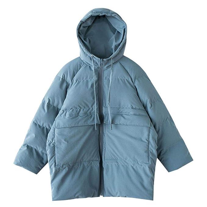 Abrigos Chaqueta de algodón Chaqueta Corta Vestido de Pan Coreano Invierno Chaqueta Gruesa Suelta Suelta Chaqueta Azul Suelta Chaqueta de Gas Extranjero: ...